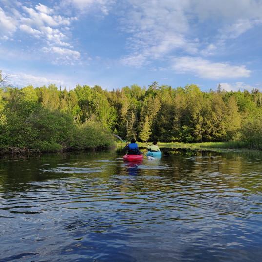 Quick canoe break