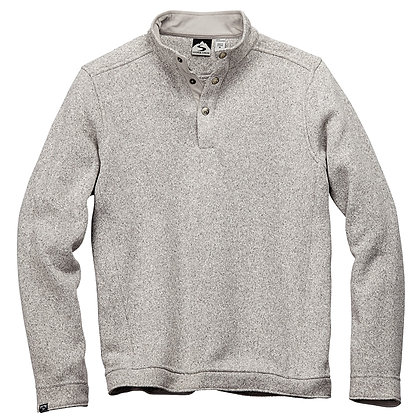 Snap-Front Sweaterfleece Pullover