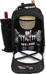 Alpine Two Person Picnic Pack w/ Wine Tote