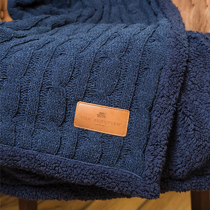 Cable Knit Chenille Throw