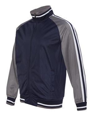 Striped Sleeve Track Jacket