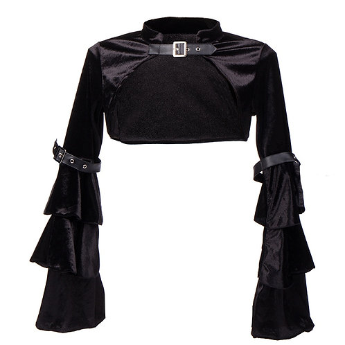 Black Short Jacket Long Sleeve Women Bolero Victorian