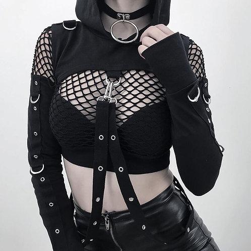 Sweatshirt Long Sleeve Black Hoodie