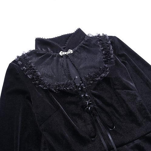 Gothic Lace Velvet Long Sleeve