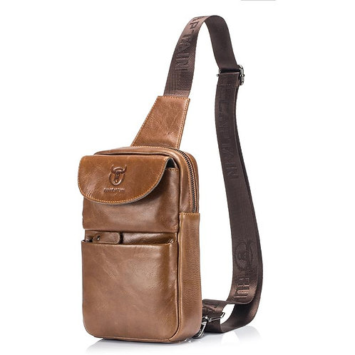 BULLCAPTAIN Cow Leather Shoulder Backpack