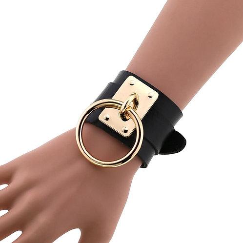 Leather Wristband Bracelet Women & Men Emo