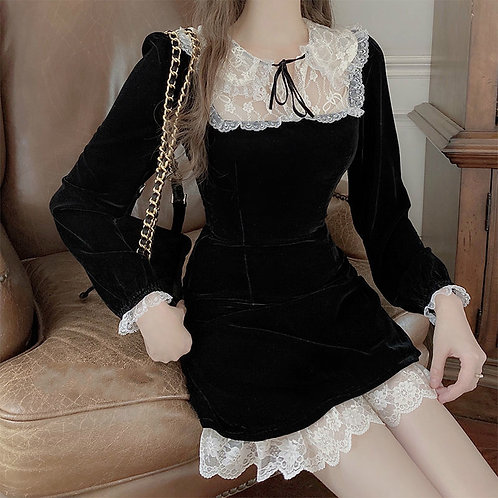 Gothic Lolita Black Dress for Women