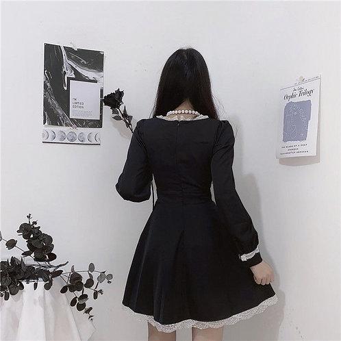 Gothic Style Dress Black & White