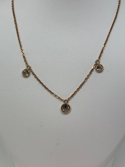 14k Rose Gold Diamond By The Inch Necklace