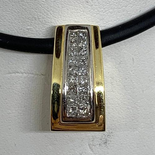 14k Two toned Slider Pendant
