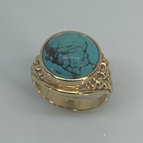 14kYellow Gold Turquoise Ring