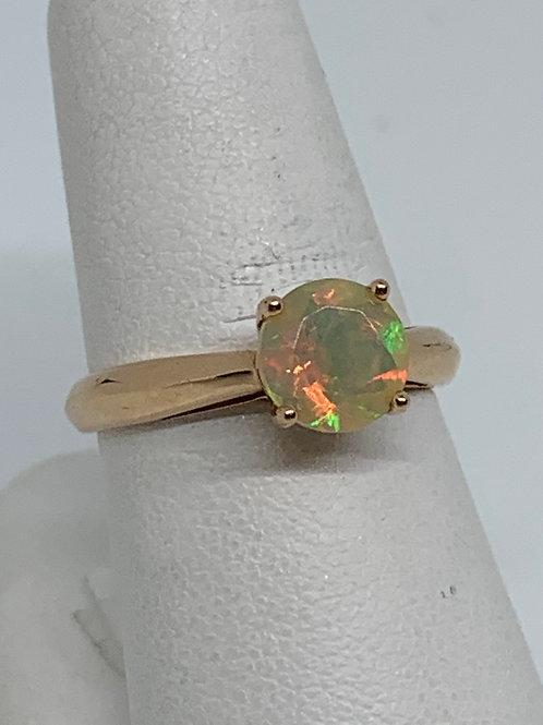 14k Rose Gold Ethiopian Opal Ring