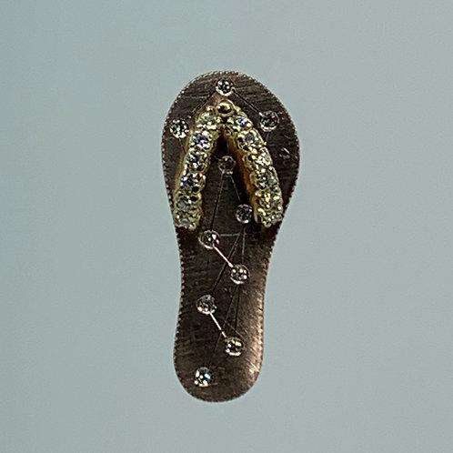 14k Rose Gold Flip Flop Pendant