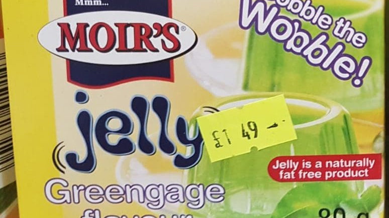 Moir's Jelly Greengage Flavour