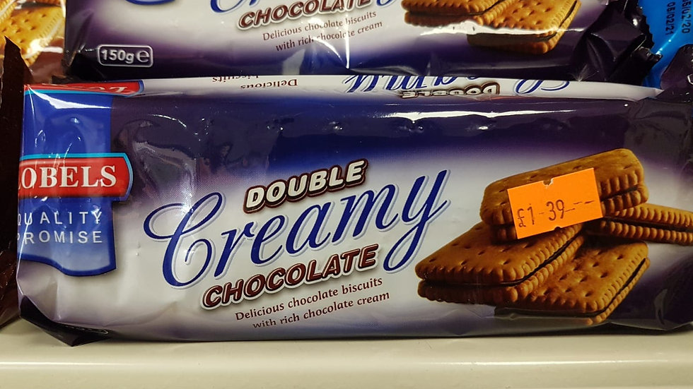 Lobels Double Creamy Chocolate biscuits