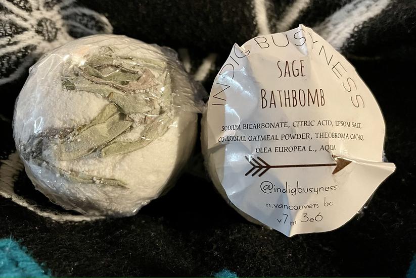 IndigBusyness Sage Bathbomb