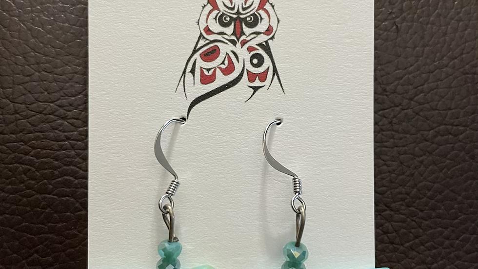 Turquoise Horse Earrings
