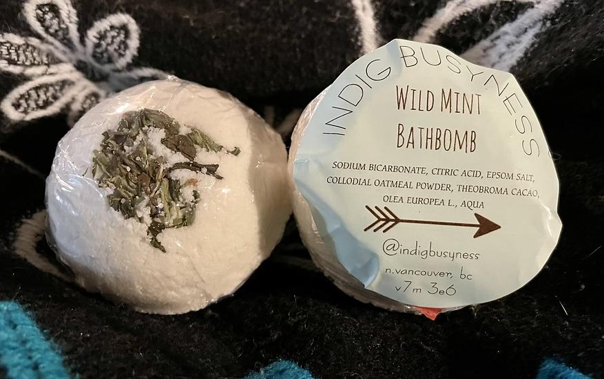 IndigBusyness Wild Mint Bathbomb
