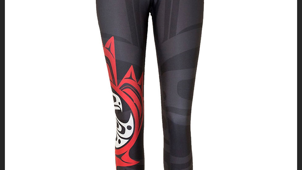 Maple Leaf Black Legging