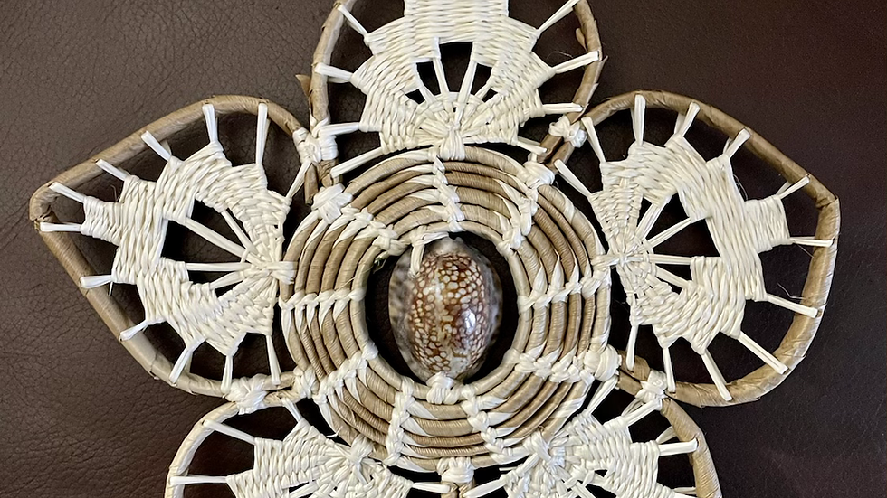 Marshallese hand-crafted Flower Ornament
