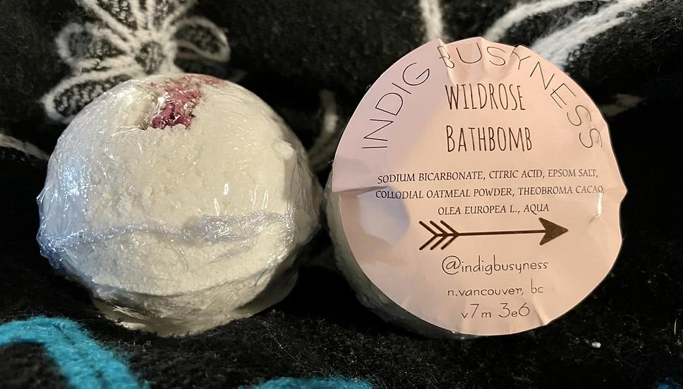 IndigBusyness Wild Rose Bathbomb