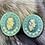 """Thumbnail: """"Bear"""" Flying Eagle Beaded Earrings"""