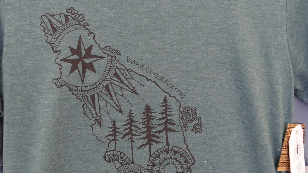 Vancouver Island Hand Printed T Shirt