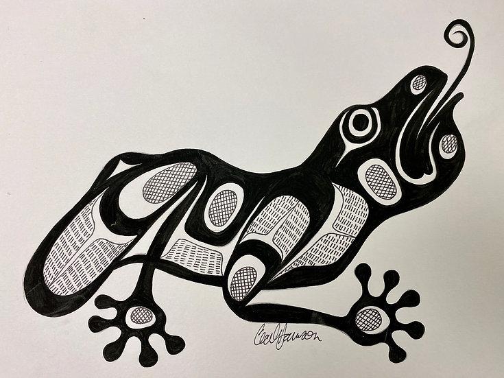 Original Frog Painting 1/2