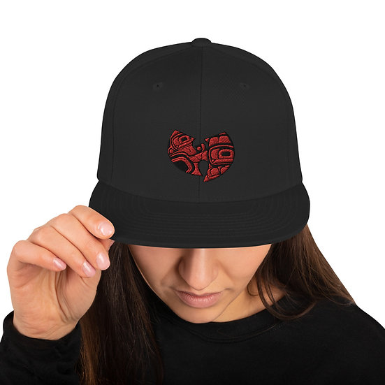 Red West Coast Embroidered Snapback Hat