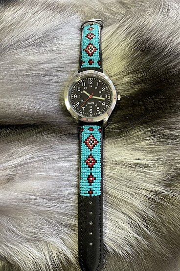 Beaded Watch with Delica Beads