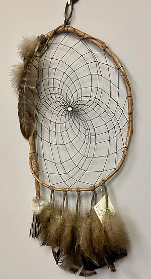 Blue Plume Dreamcatcher