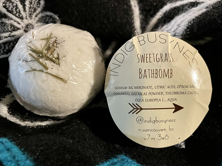 IndigBusyness Sweetgrass Bathbomb