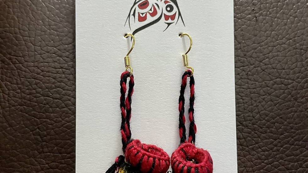 Hand-made Moccasin Earrings