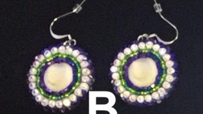 Small Beaded Powwow Style Earrings