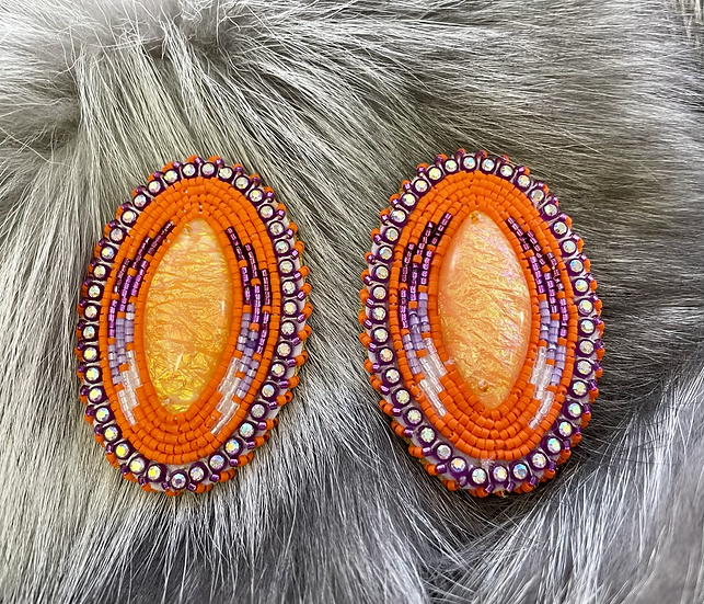 Flying Eagle Beaded Earrings
