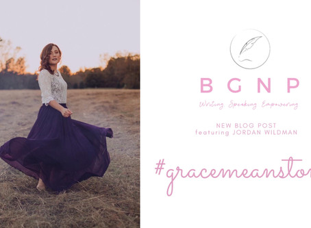 #GraceMeansToMe by Jordan Wildman