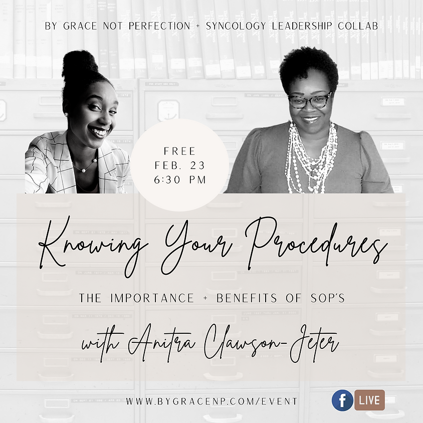 Brand Collab: Knowing Your Procedures ft. Syncology Leadership