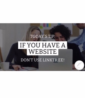 "3 EASY STEPS FOR THE MOST EFFECTIVE ""LINK IN BIO"""