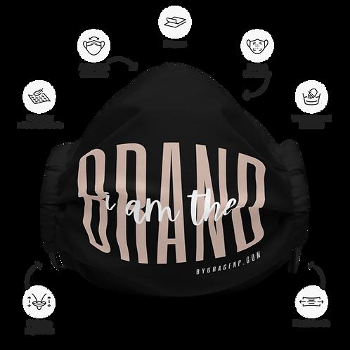 I Am the Brand Premium Face Mask