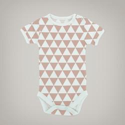 Pink Triangles Onesie