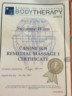 Massage Qualitifcation Certifiate