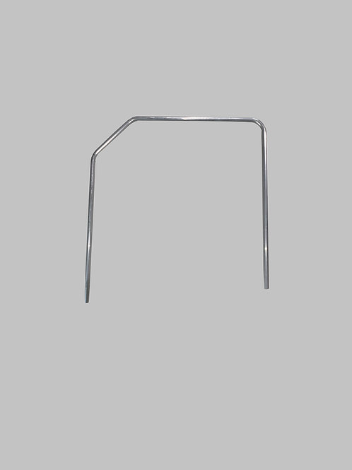 "Handrail,  (WC), 1"" Dia. Alum., Hoop w/45 Bend, Approx. 40"" OC"