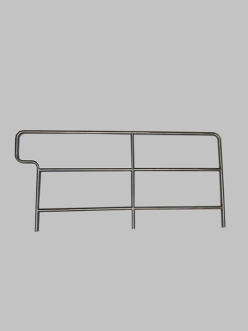 """Handrail, 1.25"""" Dia. Stainless, Long, Approx. 69.5"""" OC"""