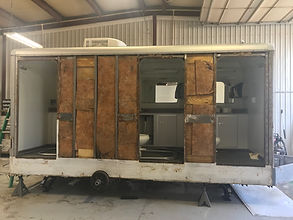 Restortion of Portable Restroom Trailer by Infinity Trailer