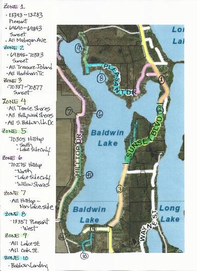 Baldwin Lake Zones and Advisors