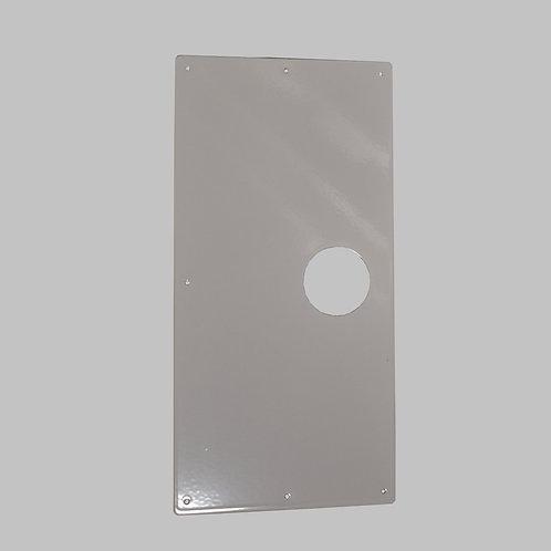 Door Knob Repair Plate, White