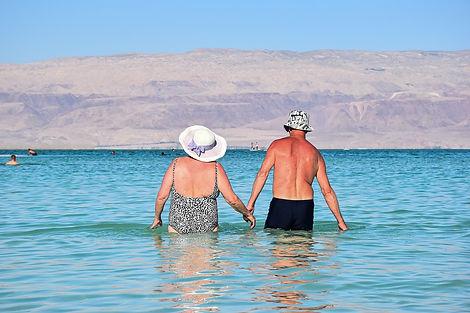 Couple in the Dead Sea