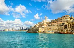 Jaffa old city and Tel Aviv