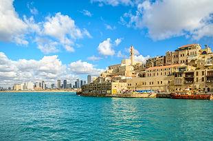 Jaffa old city and Tel Aviv coastline._.