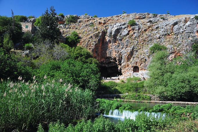 Caesarea Philippi in Israel, source of t
